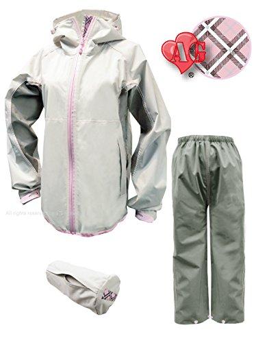 トオケミ(TOHKEMI) 【Field Equipage】 全天候型 アウトドア(透湿レイン) ウェア FE ストレッチ (スリムフィット) Rain Suit (#7900) + キャリーポーチ セット