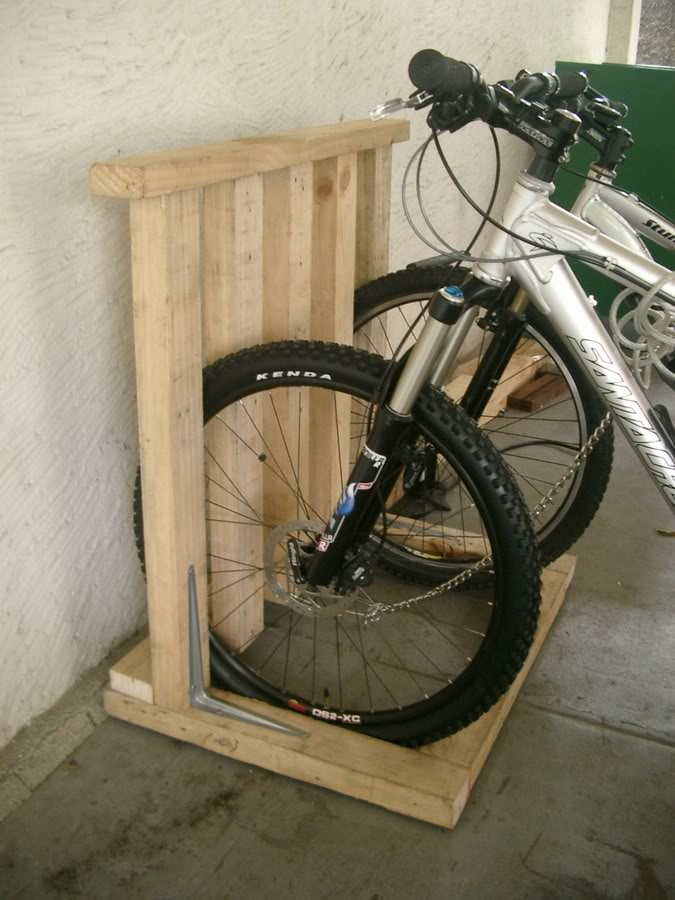 すのこ 自転車スタンド