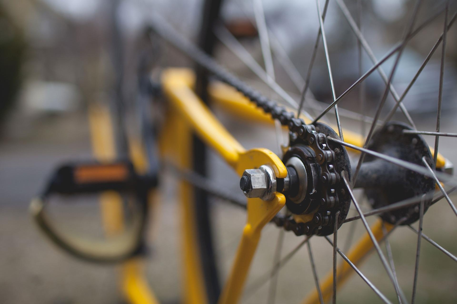 自転車 オイル注油箇所