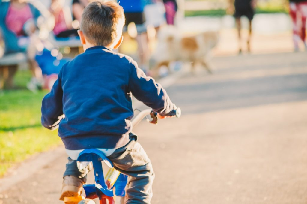 子供 自転車 目線前