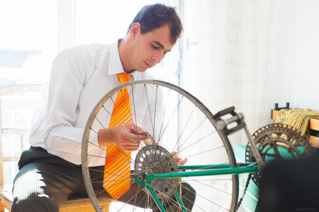 自転車通勤 スーツ