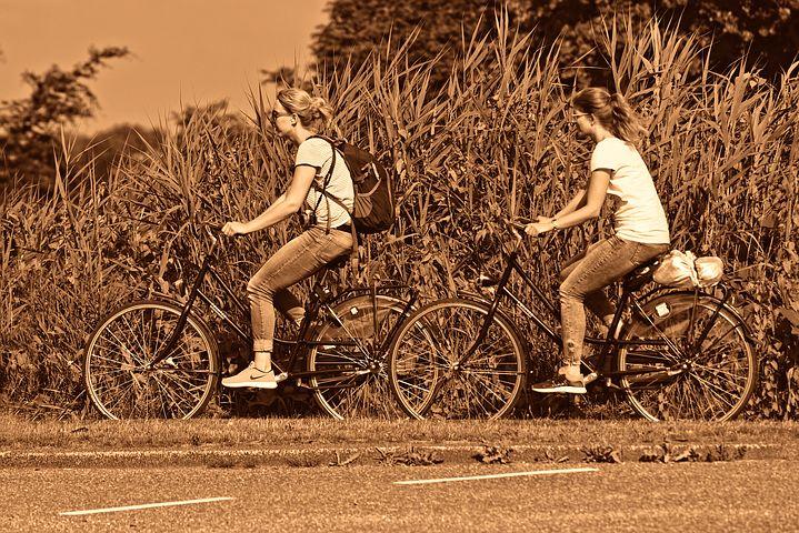 自転車 サドル高さ ママチャリ