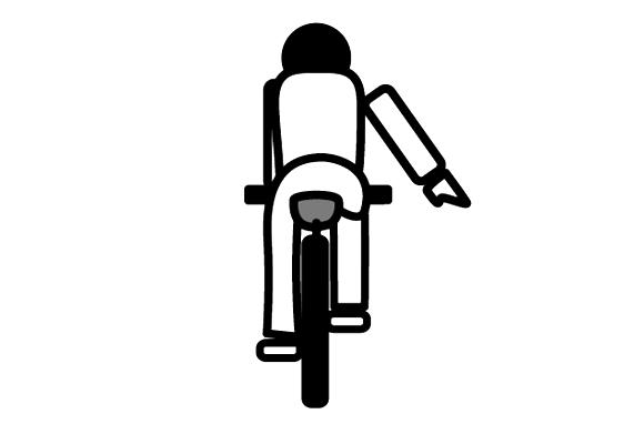 自転車 手信号 徐行・停止