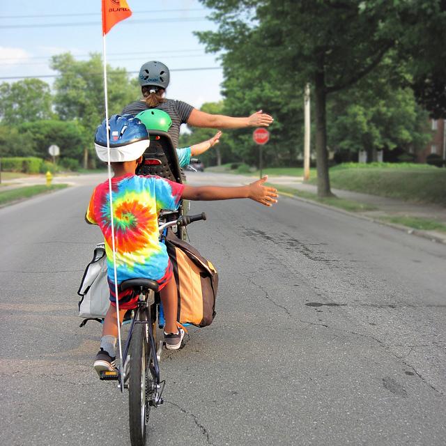 自転車 手信号