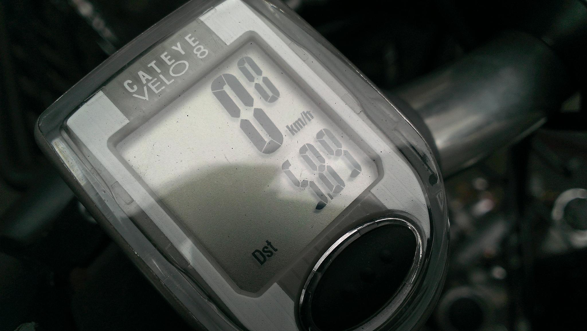 サイクルコンピュータ 平均速度