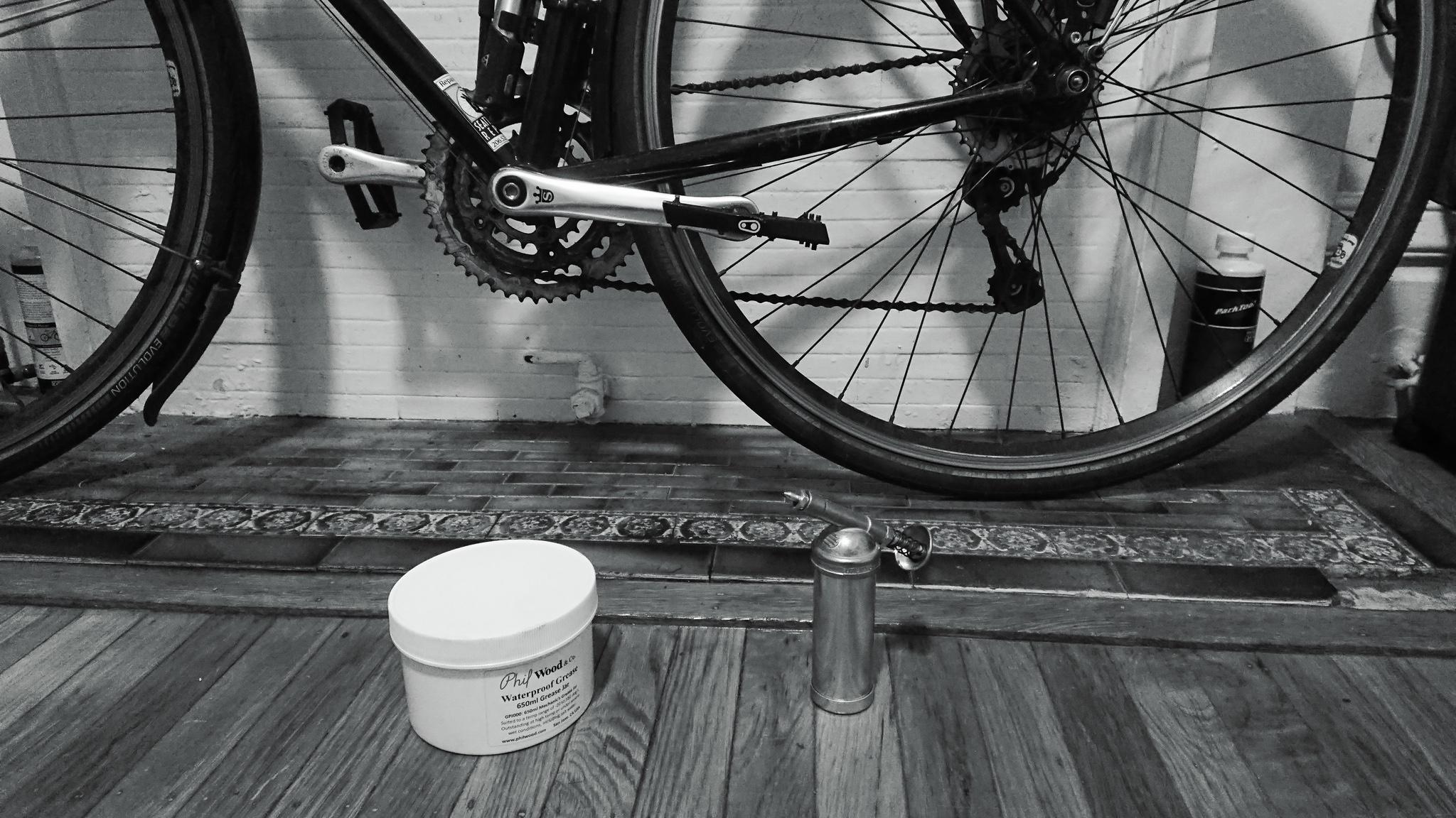 自転車 グリス