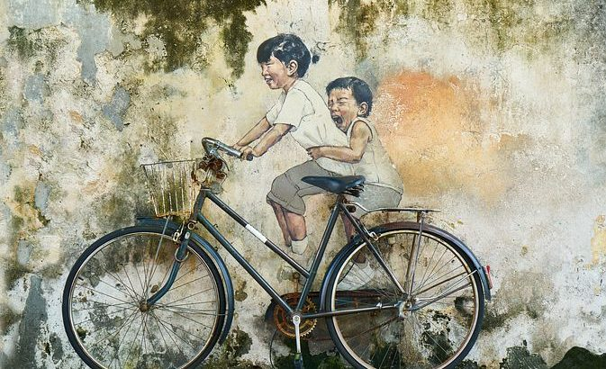 自転車 二人乗り