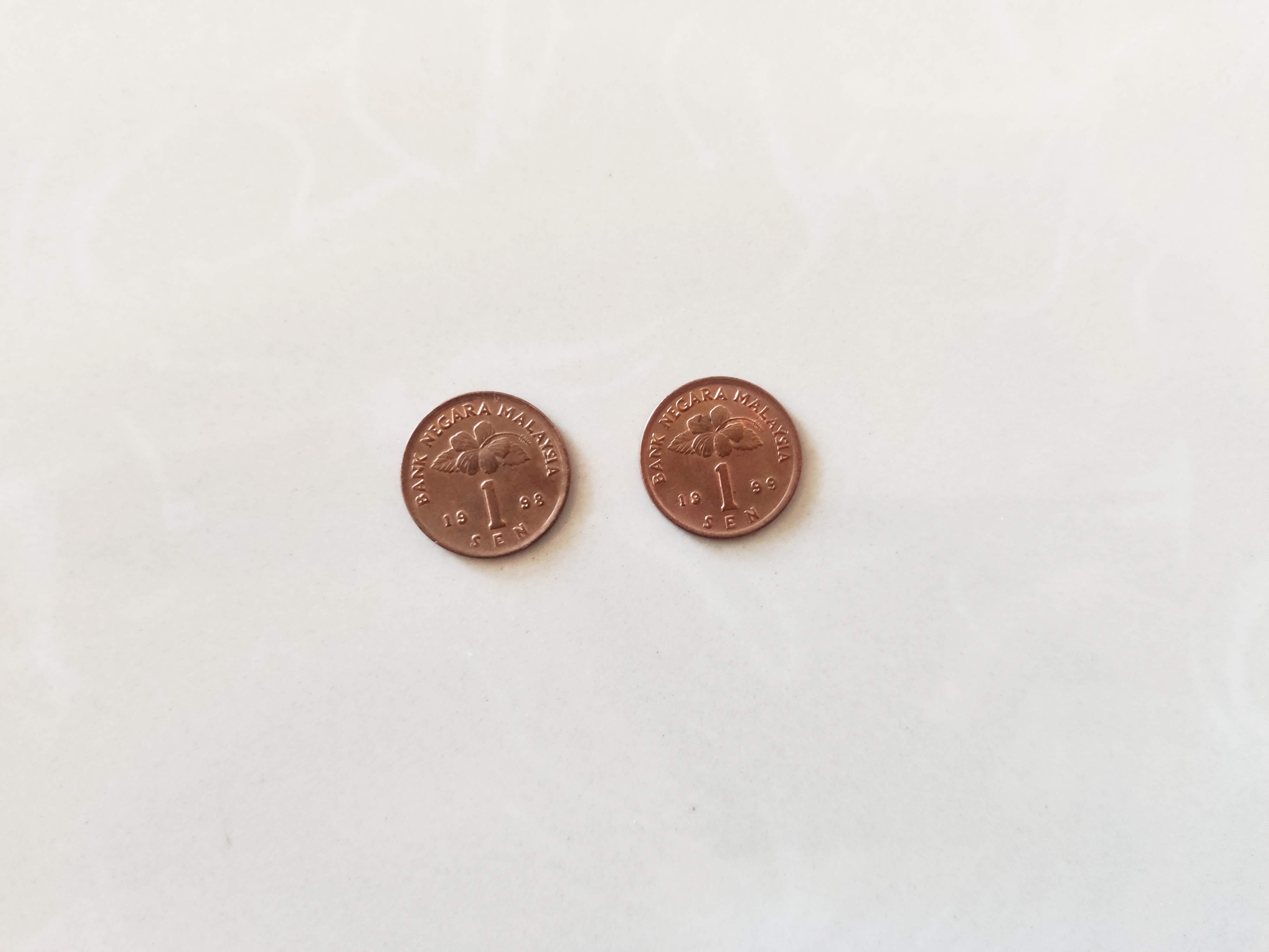 マレーシア通貨④1セン硬貨について